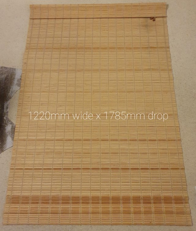Image 3 of Roman blind in bamboo