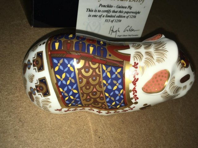 Image 2 of Boxed New Royal Crown Derby Ponchito Guinee Pig