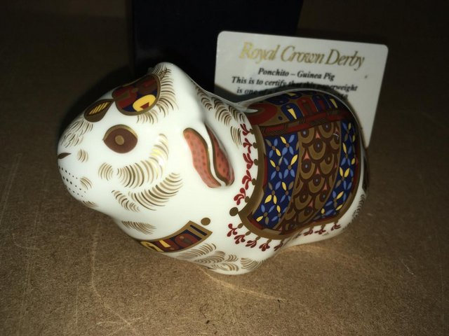 Preview of the first image of Boxed New Royal Crown Derby Ponchito Guinee Pig.