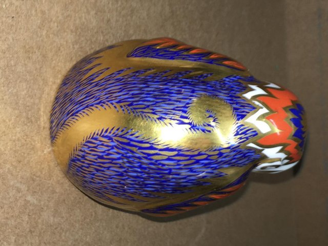 Image 2 of Royal Crown Derby Monkey & Baby Paperweight