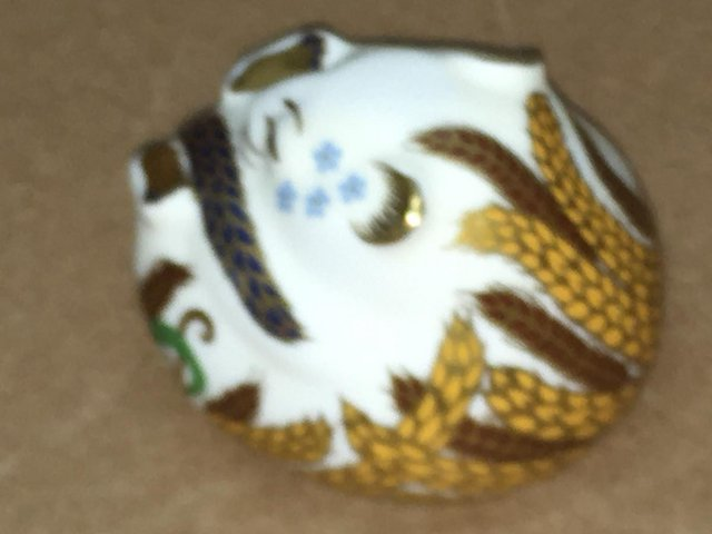 Image 3 of Royal Crown Derby White Dormouse Paperweight
