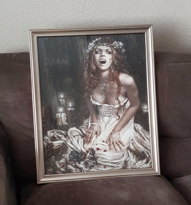 Preview of the first image of Victoria Frances Framed Gothic Print.