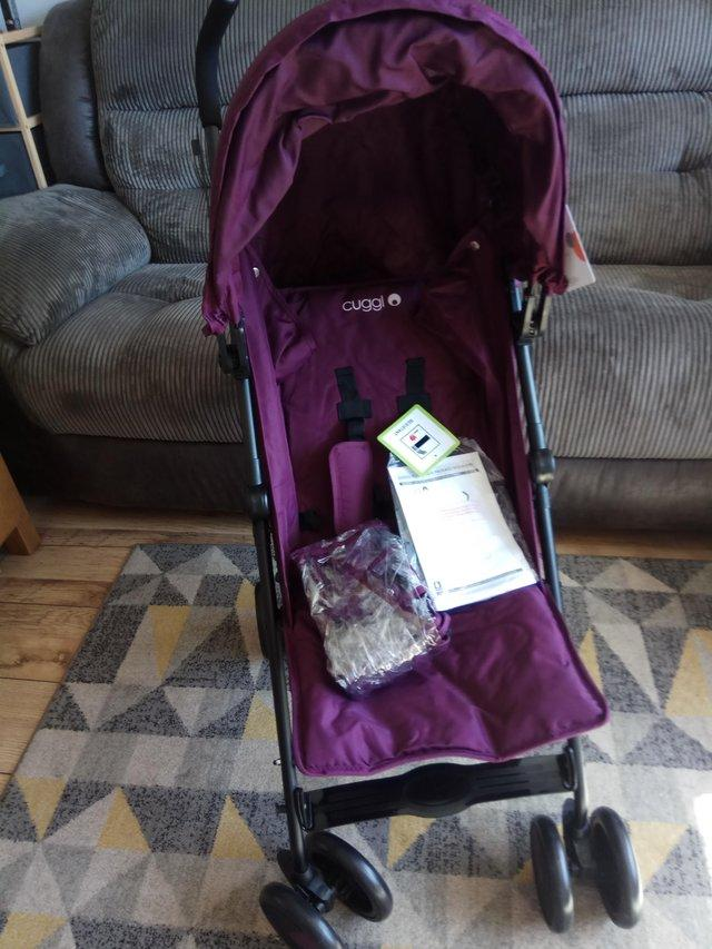 Image 6 of NEW Cuggi Reclining Pushchair with apron & raincover