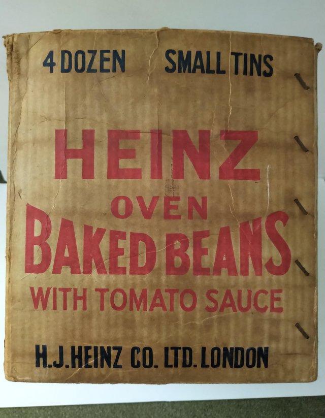 Image 3 of Heinz Oven Baked Beans Vintage Cardboard Box Packaging
