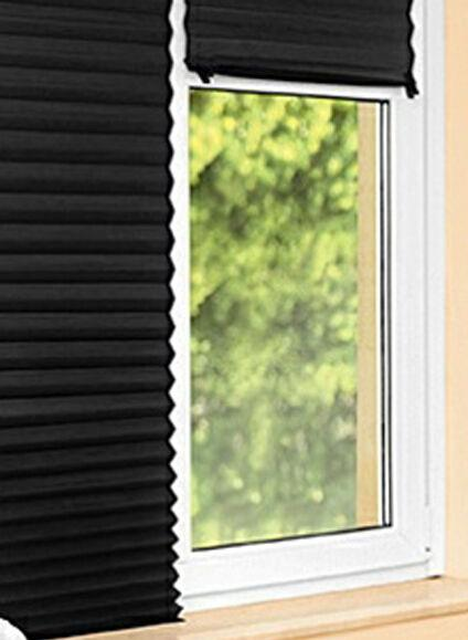 Image 2 of Pleated blackout blinds Temporary Fix