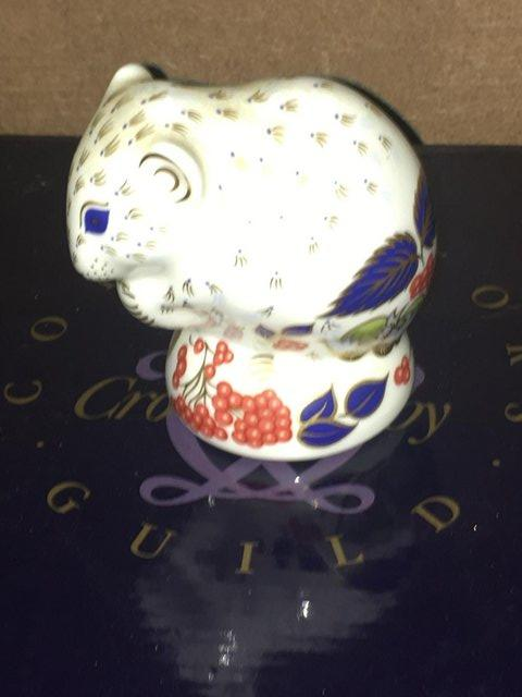 Image 2 of Boxed Royal Crown Derby Derby Dormouse Paperweight