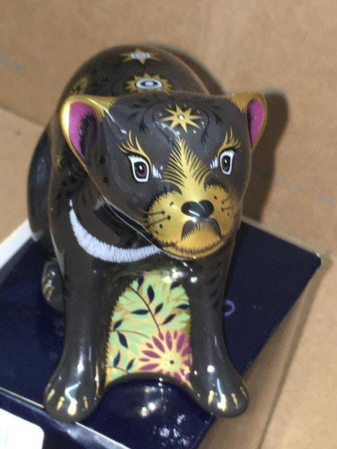 Preview of the first image of Boxed New Royal Crown Derby Tazmanian Devil Paperweight.