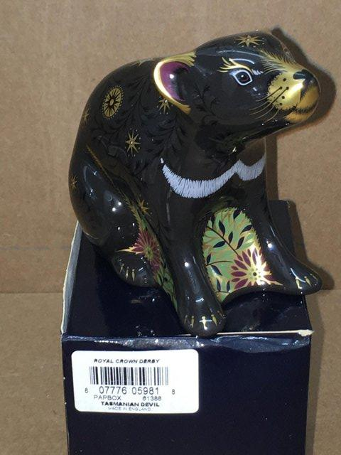 Image 3 of Boxed New Royal Crown Derby Tazmanian Devil Paperweight