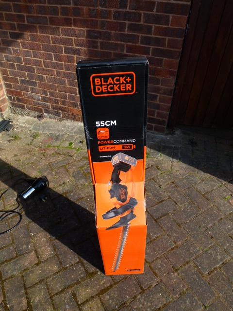 Preview of the first image of BLACK & DECKER 36v LITHIUM CORDLESS HEDGE TRIMMER BRAND NEW/.