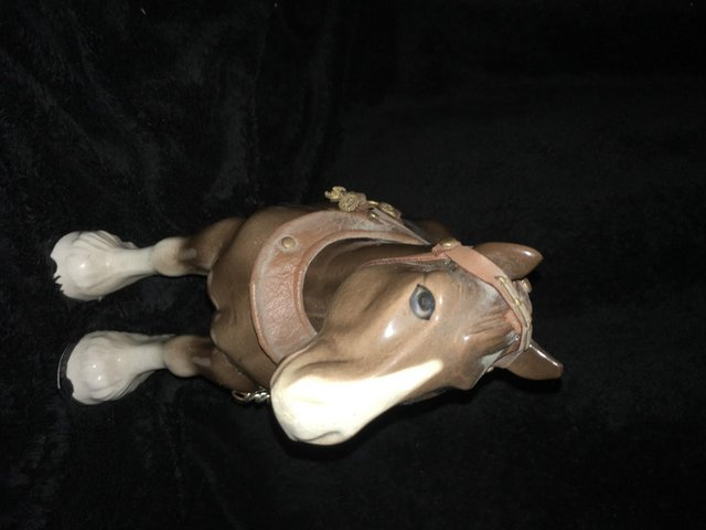 Image 2 of a large vintage shire horse ornament