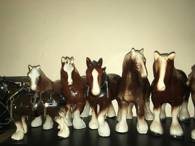 Preview of the first image of 12 x Vintage Bone China Horse Ornaments Collection Joblot.