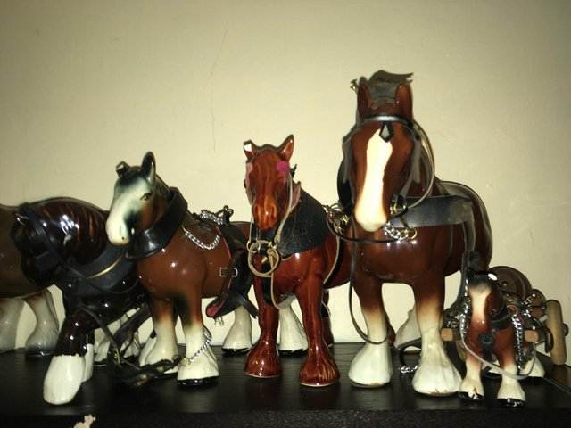 Image 2 of 12 x Vintage Bone China Horse Ornaments Collection Joblot