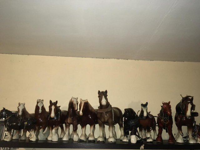 Image 3 of 12 x Vintage Bone China Horse Ornaments Collection Joblot