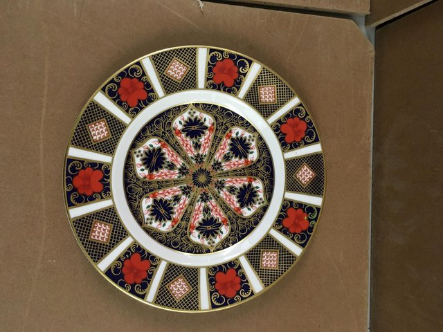 Image 2 of Royal Crown Derby Old Imari 1128 8 inch Plate