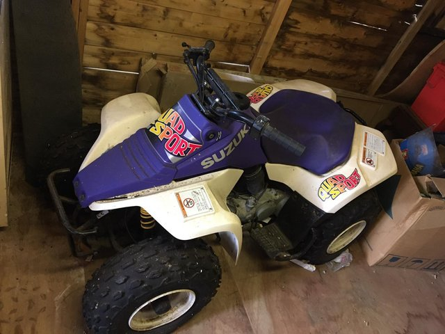 Preview of the first image of SOLD SUZUKI LT80 QUAD.BIKE STORED MANY YEARS FROM NEW.