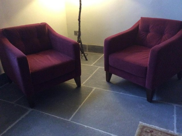 Image 3 of Rose Pink Velvet Armchairs