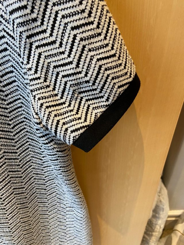 Preview of the first image of Ladies Tunic Dress (size 12), black & white, great condition.