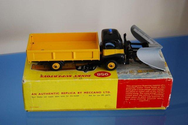 Preview of the first image of Dinky Supertoys 958 Snow Plough (with rare silver plough)..