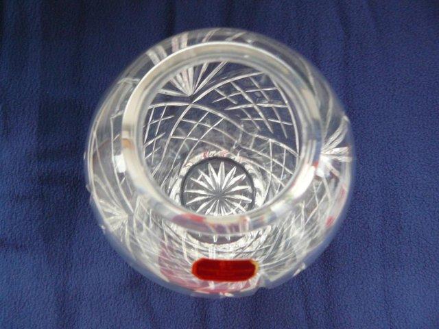 Image 2 of Royal Doulton International Crystal Cut Glass Temple vase
