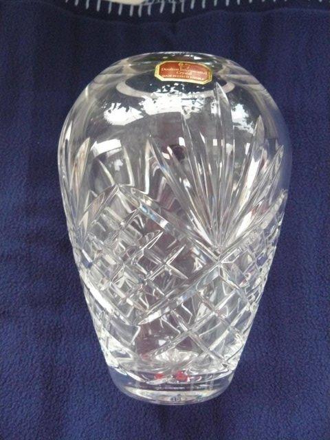 Image 5 of Royal Doulton International Crystal Cut Glass Temple vase