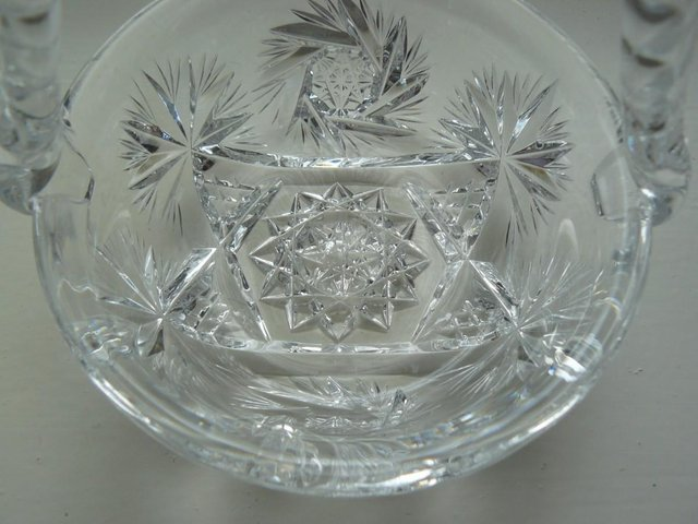 Image 6 of Vintage cut glass candy/posy basket The Royal Collection