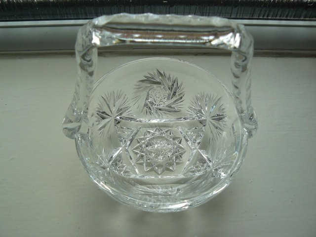Image 9 of Vintage cut glass candy/posy basket The Royal Collection
