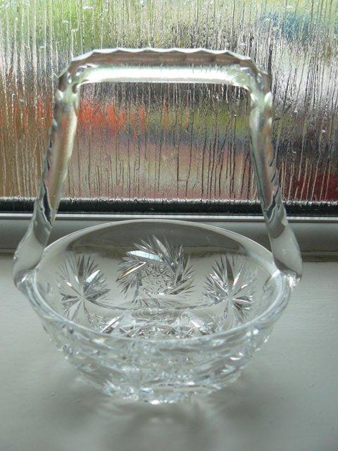 Image 5 of Vintage cut glass candy/posy basket The Royal Collection