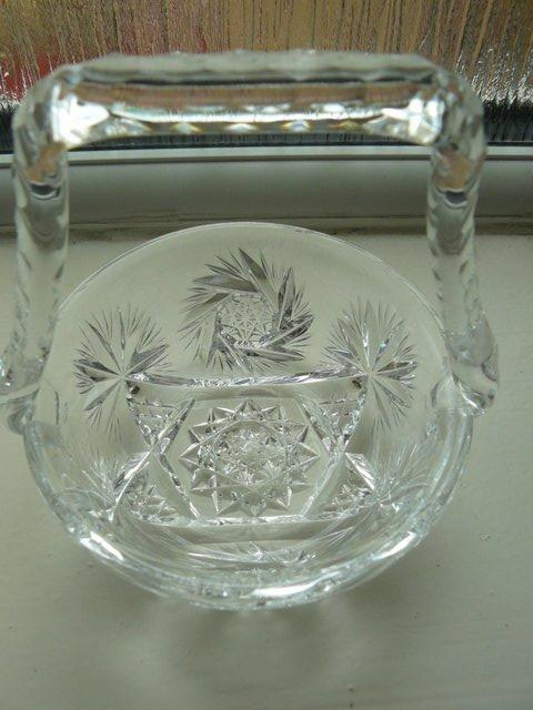 Image 7 of Vintage cut glass candy/posy basket The Royal Collection