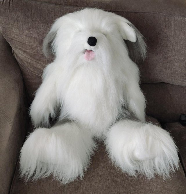 Preview of the first image of Keels Large Old English Sheepdog Plush.