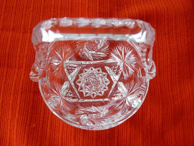 Image 10 of Vintage cut glass candy/posy basket The Royal Collection