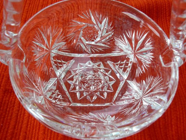 Image 12 of Vintage cut glass candy/posy basket The Royal Collection