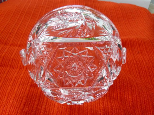 Image 13 of Vintage cut glass candy/posy basket The Royal Collection