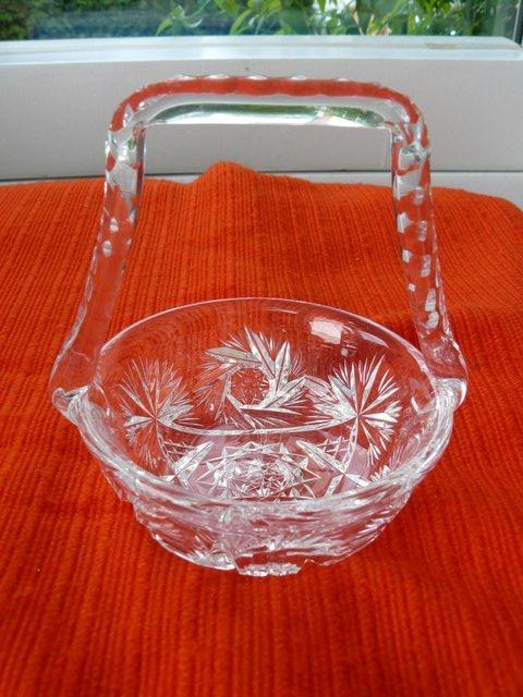 Image 11 of Vintage cut glass candy/posy basket The Royal Collection