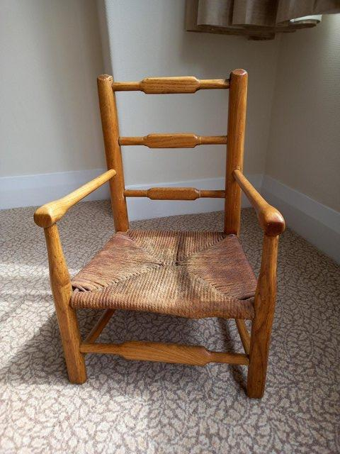 Preview of the first image of Victorian children's chair in oak..