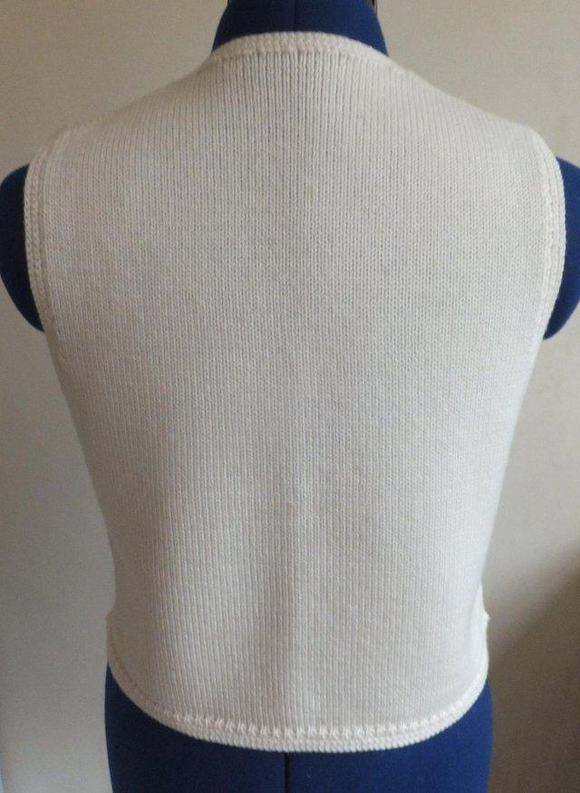 Image 3 of Ladies waist coat Marks and Spencer Cream Size 10