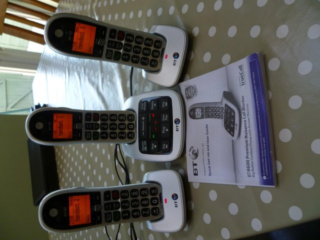 Preview of the first image of BT 4600 Cordless Trio with Answer Machine.