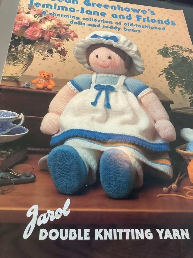 Preview of the first image of Knitting pattern books 5 Jean Greenhowe's delightful dolls.