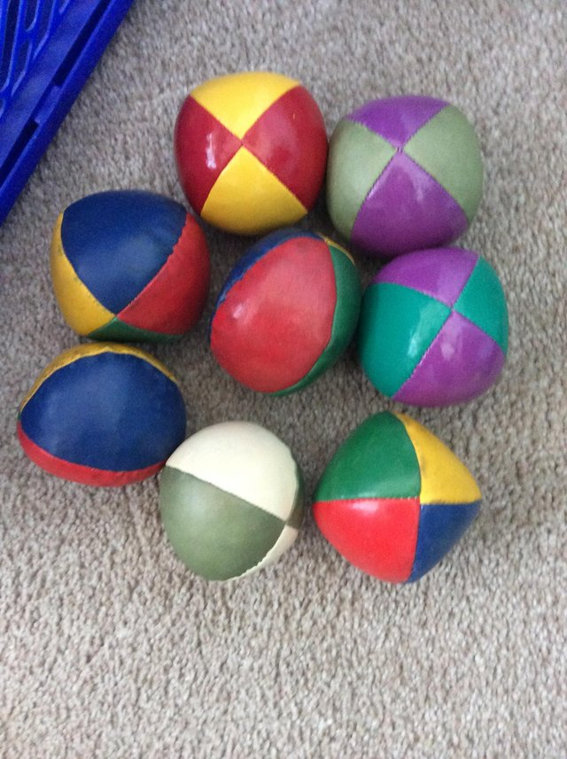 Preview of the first image of Selection of juggling balls. (Real not toys).