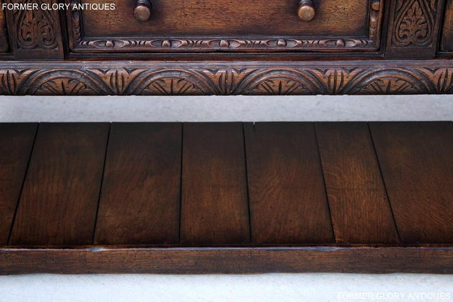 Image 7 of A TITCHMARSH AND GOODWIN CARVED OAK SIDEBOARD DRESSER BASE