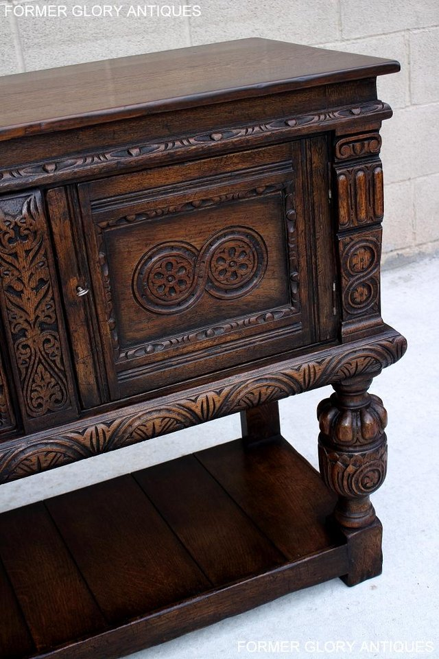 Image 8 of A TITCHMARSH AND GOODWIN CARVED OAK SIDEBOARD DRESSER BASE