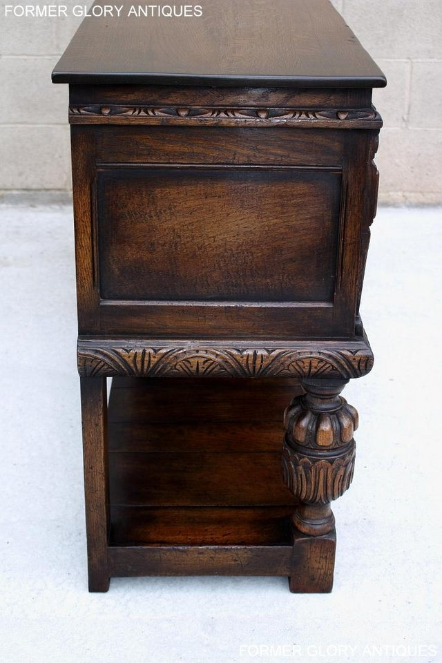 Image 12 of A TITCHMARSH AND GOODWIN CARVED OAK SIDEBOARD DRESSER BASE