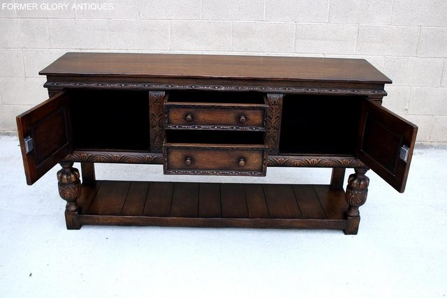 Image 14 of A TITCHMARSH AND GOODWIN CARVED OAK SIDEBOARD DRESSER BASE