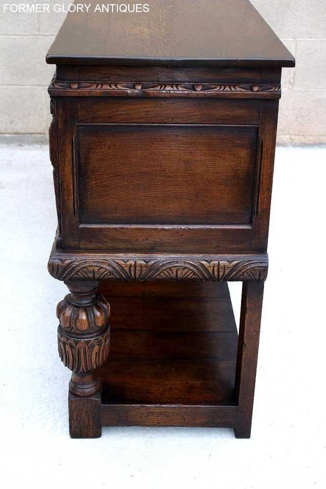 Image 15 of A TITCHMARSH AND GOODWIN CARVED OAK SIDEBOARD DRESSER BASE