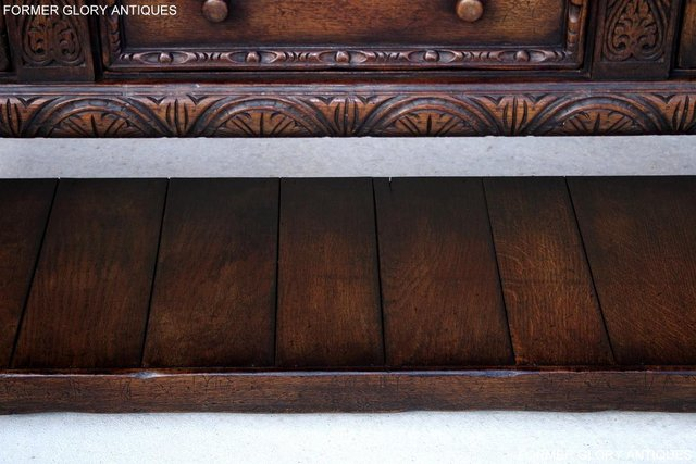 Image 20 of A TITCHMARSH AND GOODWIN CARVED OAK SIDEBOARD DRESSER BASE