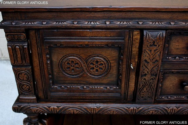 Image 21 of A TITCHMARSH AND GOODWIN CARVED OAK SIDEBOARD DRESSER BASE