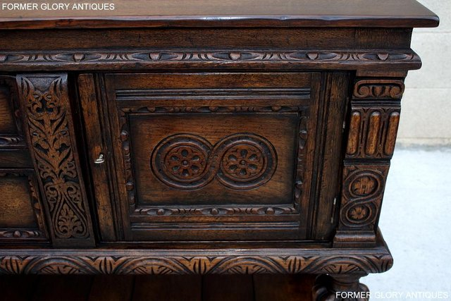 Image 34 of A TITCHMARSH AND GOODWIN CARVED OAK SIDEBOARD DRESSER BASE