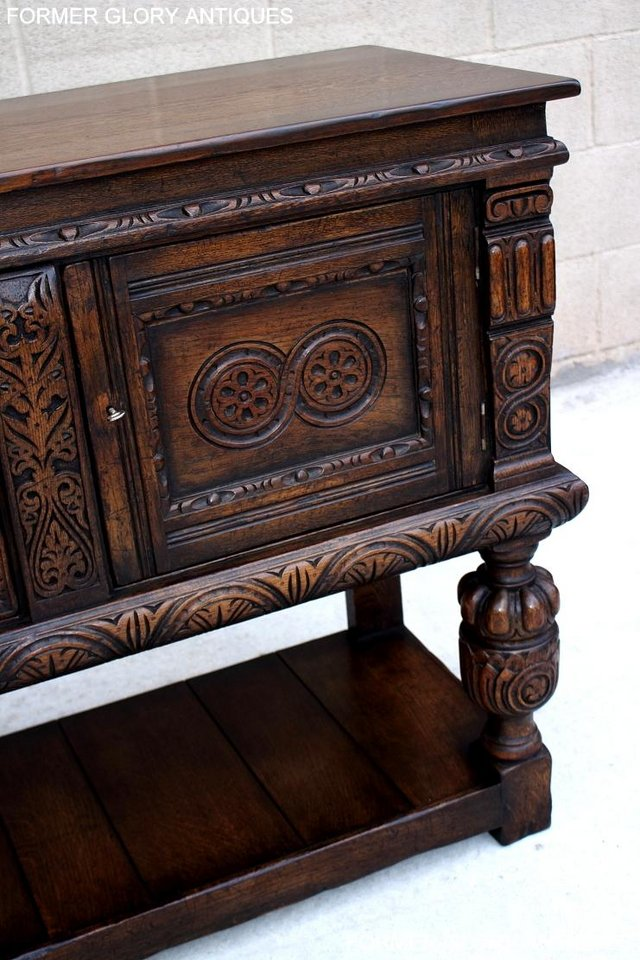 Image 36 of A TITCHMARSH AND GOODWIN CARVED OAK SIDEBOARD DRESSER BASE
