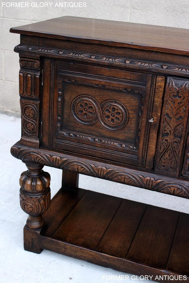 Image 46 of A TITCHMARSH AND GOODWIN CARVED OAK SIDEBOARD DRESSER BASE