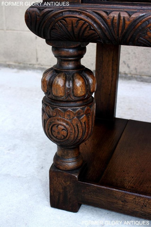 Image 58 of A TITCHMARSH AND GOODWIN CARVED OAK SIDEBOARD DRESSER BASE
