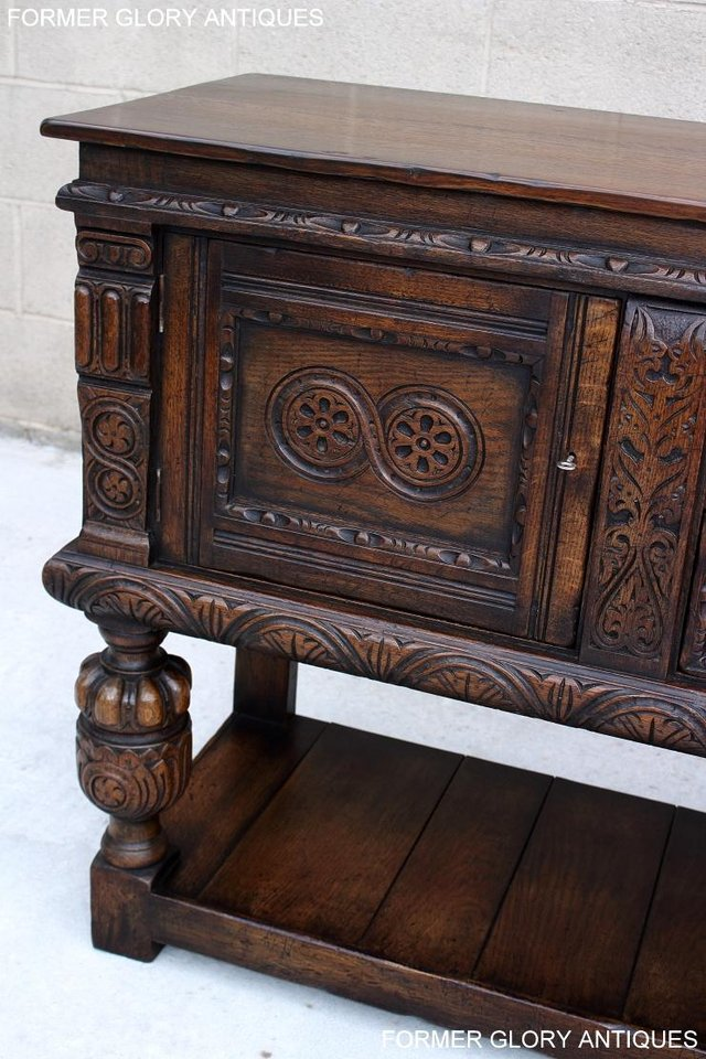 Image 60 of A TITCHMARSH AND GOODWIN CARVED OAK SIDEBOARD DRESSER BASE